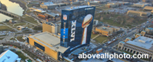 super bowl aerial photography JW Marriott Indianapolis 2012