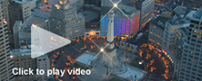 stock aerial video of super bowl village - Indianapolis